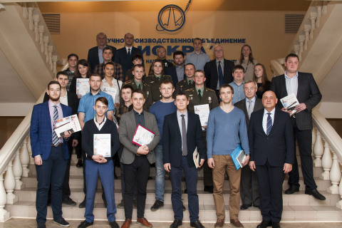 """Project Manager of the scientific and engineering center """"Compressor, vacuum, refrigeration engineering and pneumatic system"""" A.M. Yablokov among the participants and winners of the scientific and technical conference of young professionals NPO """"Iskra"""", where he presented the center with a report."""