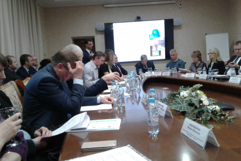 "Speech by the head of the CVRE Department Yu. V. Kozhukhov at a working meeting of representatives of SPBPU, GUP ""Vodokanal St. Petersburg"" and the Committee on energy and engineering with the participation of the Committee Chairman A. S. Bondarchuk and General Director of GUP ""Vodokanal St. Petersburg"" E. I. Tselikov"