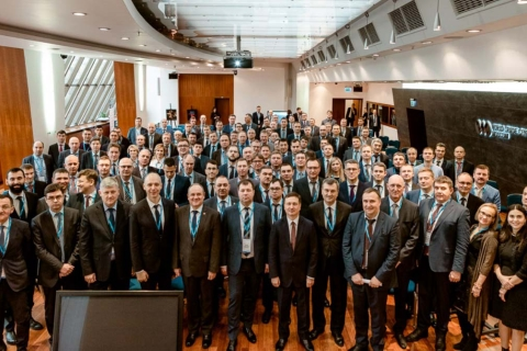"Head of the CVRE Department Yuri Kozhukhov among the participants of the plenary meeting of the 308 Department PAO ""Gazprom "" ""Results of the work of gas transport companies and UGS for the operation of compressor stations of PAO ""Gazprom"" for 2018, the main problematic issues, positive experience"" chaired by Deputy head of the 308 Department A. N. Bronnikov"