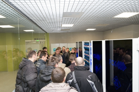 """A students group of advanced training courses from OOO """"Gazprom transgaz St. Petersburg"""" and OOO """"Gazprom invest"""" in the supercomputer center """"Polytechnic"""""""
