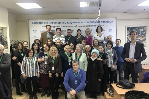 """Meeting of """"Compressor, vacuum and refrigeration engineering"""" department different years graduates at celebration of the 120th anniversary of Peter the Great St. Petersburg Polytechnic University"""
