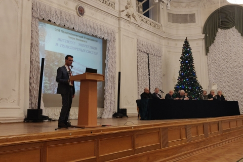 """Head of the """"Compressor, vacuum and engineering"""" Department - acting Director of the Institute of energy and transport systems Yu. V. Kozhukhov opens the open day of the Institute 2019"""