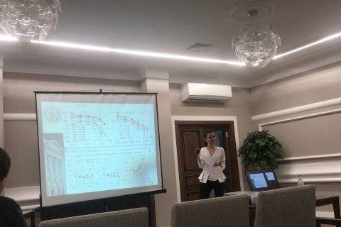 Speech by L. V. Geleva, specialist of the scientific and engineering center at the Fluid Dynamics section of the International Scientific Conference on Energy, Environmental and Construction Engineering (EECE-2018)