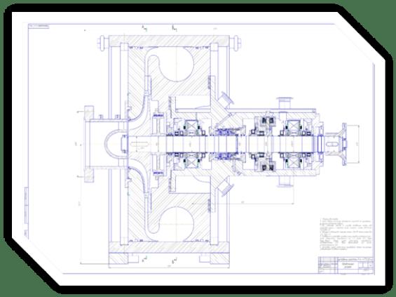 Центробежный компрессор с осевым подводом