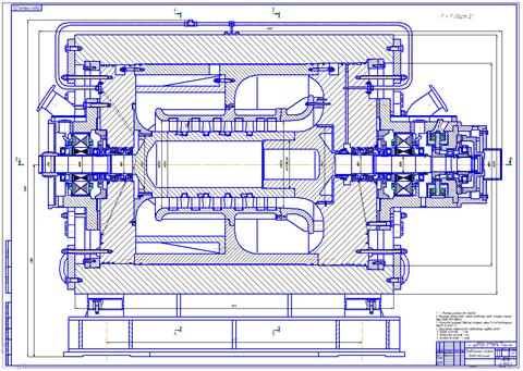 Проект осевого компрессора природного газа магистрального газопровода