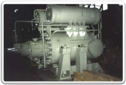 Пример: Пятиступенчатый нагнетатель 108-51-1 с конечным давлением 12,3 МПа. (Первый компрессор нового поколения для газовой промышленности. Газодинамический проект кафедры КВиХТ СПбПУ.