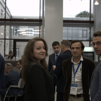 Compressor Technology Symposium 2019: From left to right: N.M. Tuzova - Department of Compressor Technology SPbPU, A.A. Gubaidullin - SKF Group, Yu.V. Kozhukhov - chairman of the organizing committee of the symposium