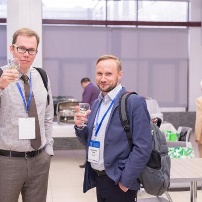 Симпозиум 2018: участники симпозиума П.А. Рогов (Ariel) и Ф.В. Калугин (ABB)