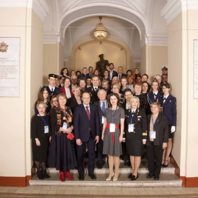 "Director of the scientific-engineering center ""Compressor, vacuum, refrigeration equipment and pneumatic systems"" S.V. Kartashov among the participants of the Synergy-2019 conference, held with the support of Gazprom, chaired by the rector of KNITU S.V. Yushko"