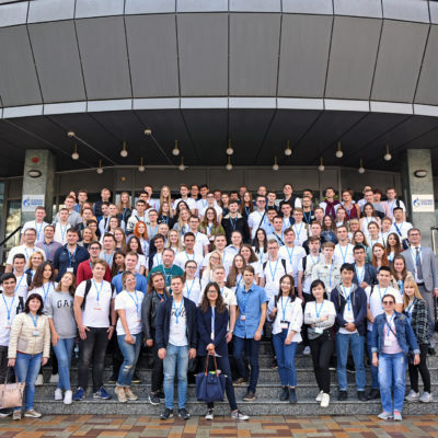 "Project Manager of the Scientific and Engineering Center ""Compressor, Vacuum, Refrigeration and Pneumatic Systems"" A.A. Aksenov and students of the ""Research of compressor equipment and SPbPU gas compression, transport and gas processing systems among participants in a student conference at Gazprom dobycha Astrakhan LLC"