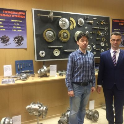 """Visit of the head of the research group """"Compressor, vacuum, refrigeration equipment and pneumatic systems"""" Yu.V. Kozhukhov at NPO Geliymash"""