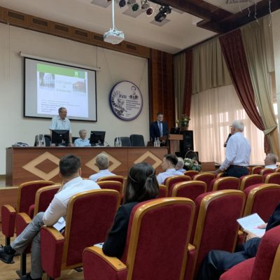 "Conference on compressor engineering (Kazan). Project manager report of the scientific and engineering center ""Compressor, vacuum and refrigeration engineering"" A. M. Danilishin."