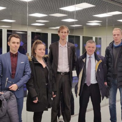 "Specialists of the ""Compressor, vacuum, refrigeration engineering and pneumatic systems"" center with representatives of the PAO ""Silovye mashiny"" SRW administration in the supercomputer center "" Polytechnic»"