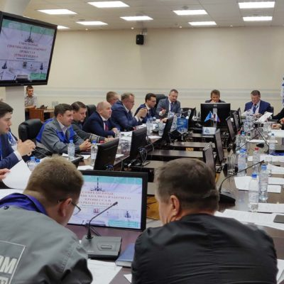 "Report of the head of the CVRE Department Y. V. Kozhukhov at the meeting of PAO ""Gazprom"" "" TDA application and operation experience at gas production facilities. Turbo-expander equipment perspective samples creation"" on the site of NGDU Zapolyarnyi NGKM OOO ""Gazprom dobycha Yamburg"""