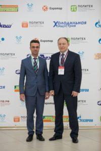 The Chairman of the symposium organizing committee Yu.V. Kozhukhov and First Deputy Head of the State Unitary Enterprise St. Petersburg Metropoliten E.G. Kozin