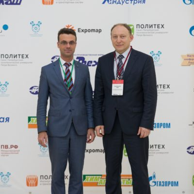 "Symposium on compressor technology 2019: Chairman of the organizing committee of the annual international industrial symposium ""Compressors and compressor equipment"" Yu.V. Kozhukhov and First Deputy Head of the State Unitary Enterprise ""Petersburg Metro"" E.G. Kozin"