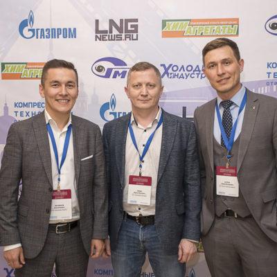 Conference 2021: Conference participants, from left to right: A.A. Biktimirov Gazpromneft Development LLC, R.Z. Berdin OOO Gazpromneft Zapolyarye, R.M. Yusupov Kynsko-chatelskoe neftegaz LLC