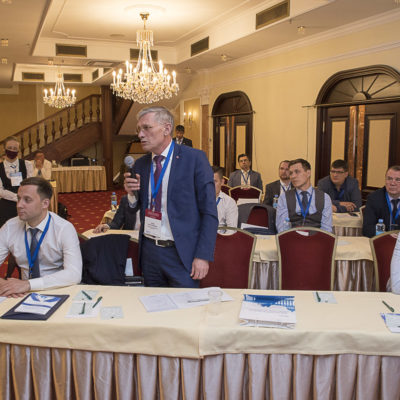Conference 2021: the question asks participants KY Grekov - a representative of the company, a branch of Gazprom Invest LLC, Gazprom Remont